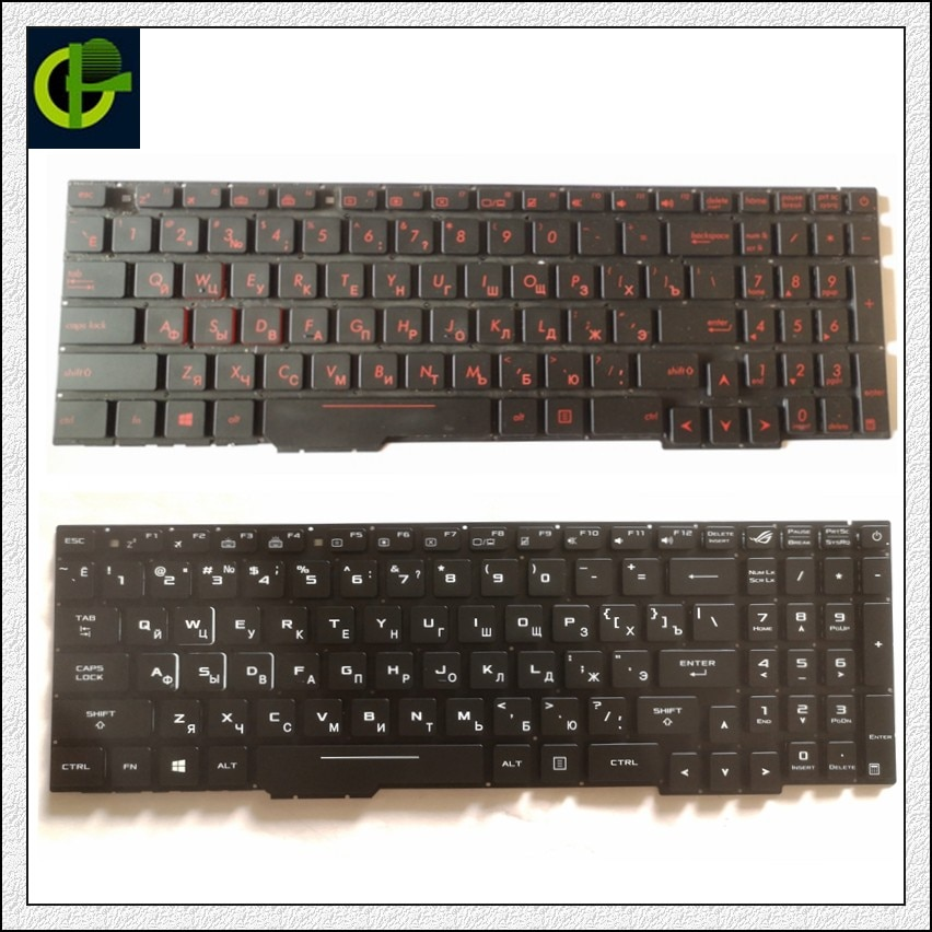 Russian Backlit keyboard for Asus Rog GL553 GL553VD GL553VE GL553VW GL753 GL753V GL753VE GL753VD ZX53V ZX53VD ZX53VE ZX5