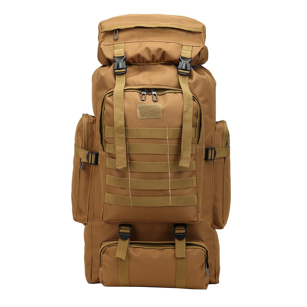 กระเป๋าเป้เดินทาง【คุณภาพทหาร】พรางกระเป๋าเป้สะพายหลังชายกันน้ำความจุขนาดใหญ่ผู้ชายเดินทางกระเป๋าเป้สะพายหลังตั้งแคมป์ถุงเ