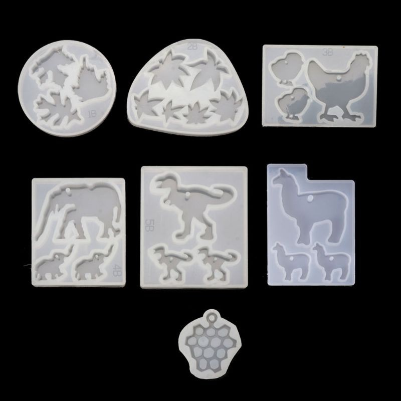 Epoxy Resin Pendant Mold with Jewelry Molds Fondant Cake Candy Mold Necklace Making and DIY Decorations Craft Making Angel Wings Clay Silicone Mold