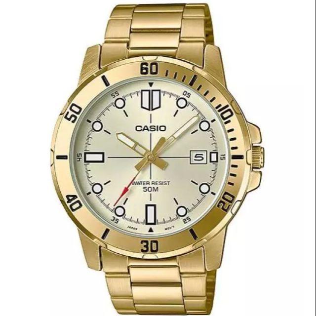 นาฬิกาข้อมือผู้ชาย CASIO รุ่น MTP-VD01G-9EVUDF สายสแตนเลส รับประกัน1ปี ของแท้แน่นอน 💯% ส่งพร้อมกล่อง