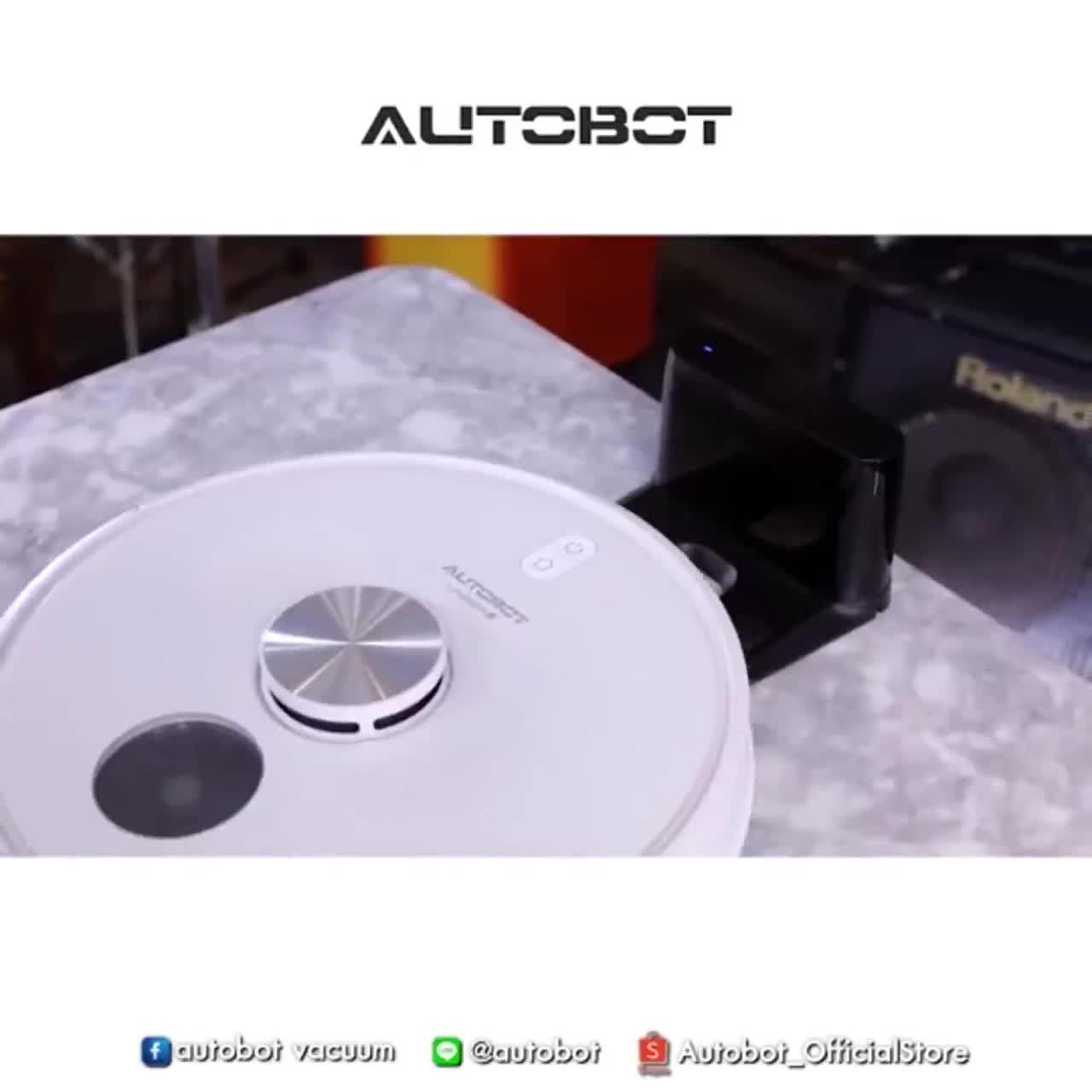 AUTOBOT robot vacuum หุ่นยนต์ดูดฝุ่น ถูพื้นแบบ Y รุ่น Lazer mark 4 แถมฟรี เครื่อง U