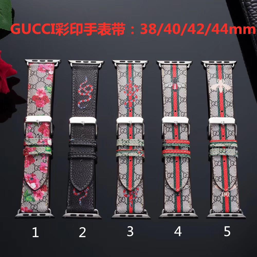 สายนาฬิกาข้อมือแฟชั่น Gucci สําหรับ Apple Watch Iwatch 1 2 3 4