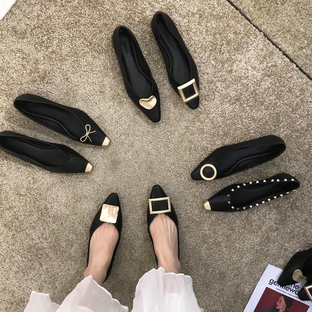 รองเท้าส้นสูง💖รองเท้าส้นแก้ว💖รองเท้าผู้หญิง💖รองเท้าคัชชู💖การควบคุมสีดำต้องเข้า ~ ชี้ปากตื้นรองเท้าเดียวผู้หญิง 2020