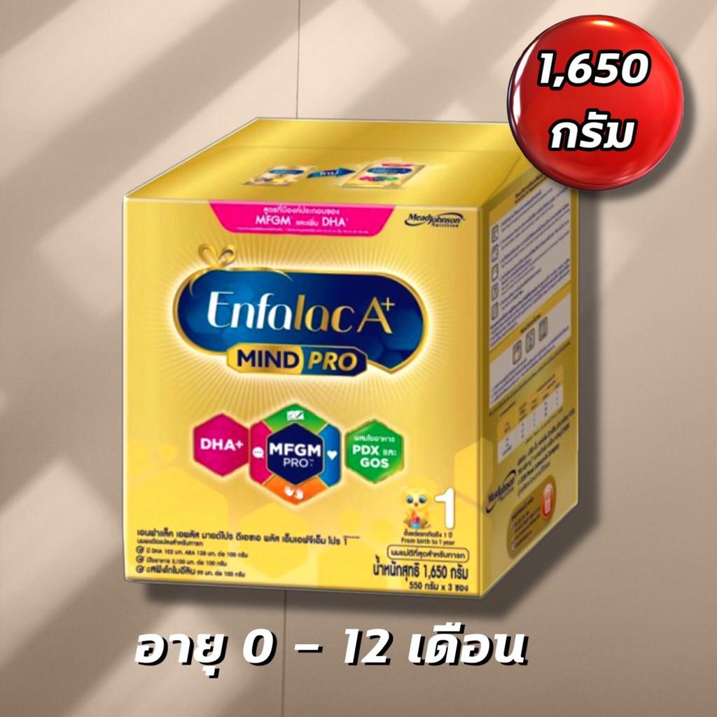 นมผงEnfalac A+ เอนฟาแล็ค เอพลัส สูตร 1 นมผงดัดแปลงสำหรับทารก 0-12 เดือน 1650กรัม **หมดอายุ 06/08/2021**