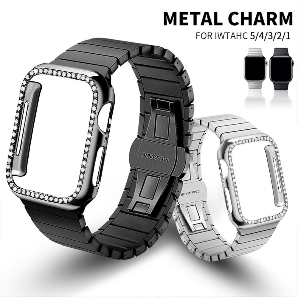 Apple Watch Strap + Case Stainless steel iWatch Strap Replacement Apple Watch Series 1 / 2 / 3 / 4 / 5 / 6  Apple Watch SE Watchband Iwatch 38mm 40mm 42mm 44mm Accessories