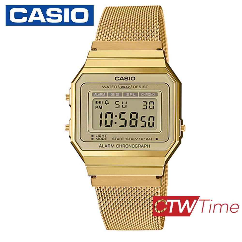 ส่งฟรี !! Casio Standard นาฬิกาข้อมือ สายสแตนเลส รุ่น A700WMG-9ADF (สีทอง) qgW7