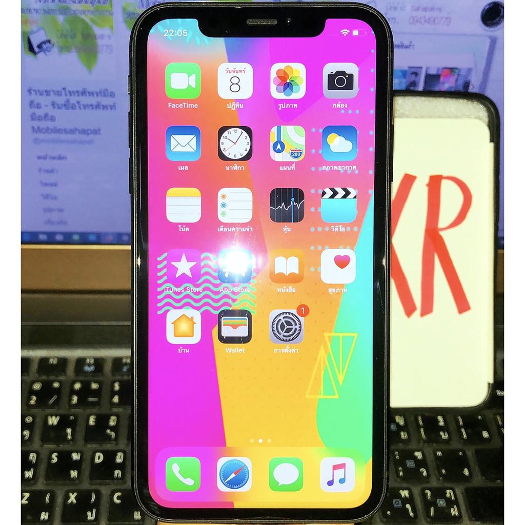 Apple iPhone XR ฺ64G ฺBlack TH เครื่องสวยไร้รอย ประกันเยอะ ใช้น้อย กันน้ำ