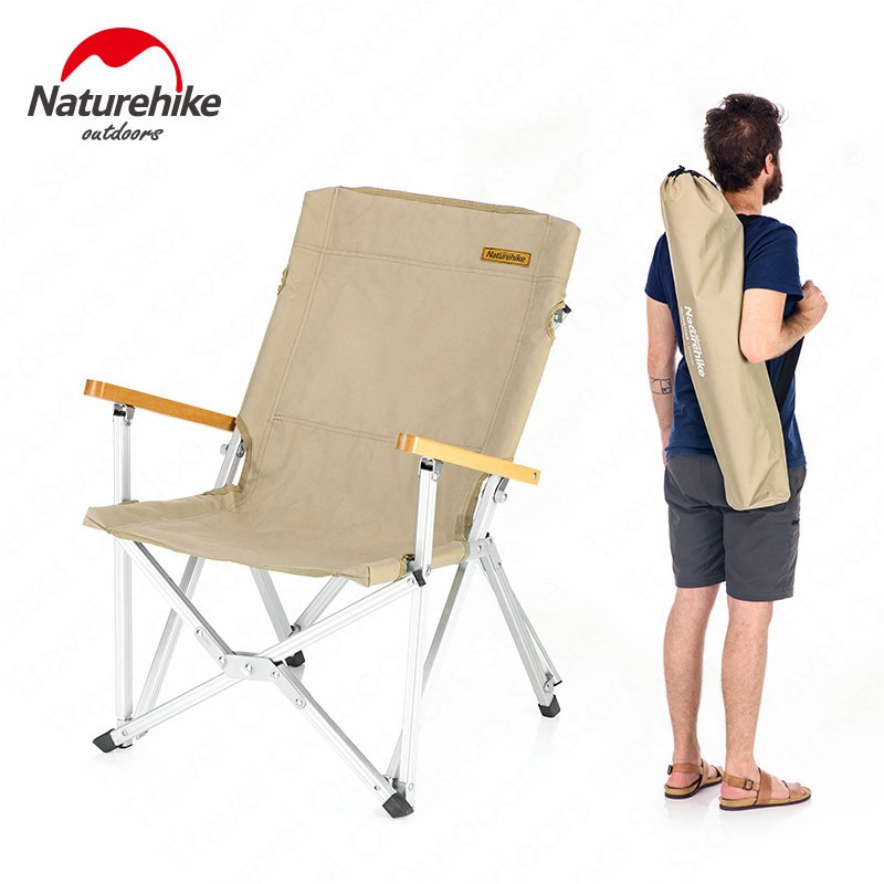 Naturehike Camping Chair Folding Storage Outdoor Chair Durable Fishing Backrest Small Portable Chair  Picnic Hiking NH19