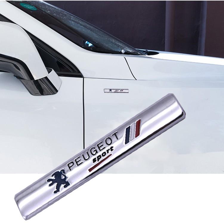 สติ๊กเกอร์โลหะติดด้านข้างรถยนต์ 1 ชิ้นสําหรับ Peugeot 3008 308 206 408 208 508 407 207 307 5008 405 406