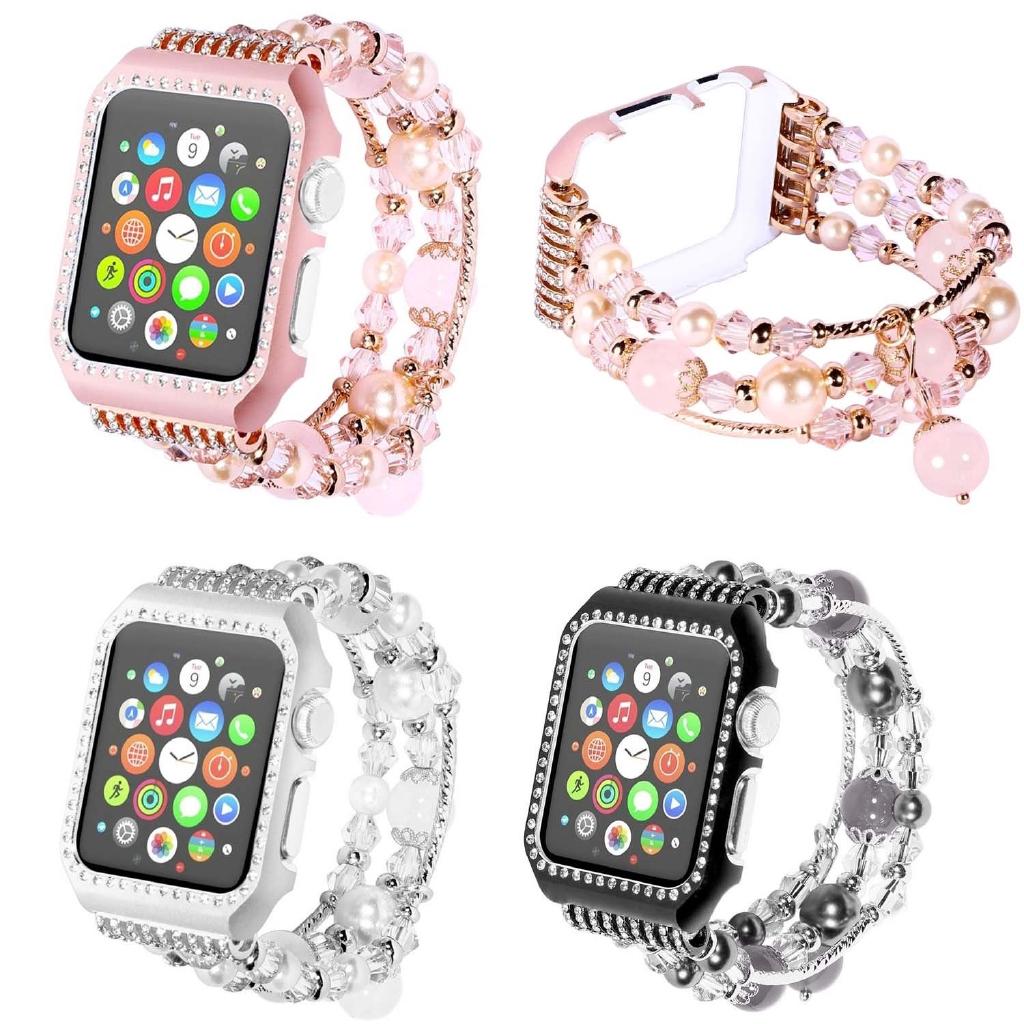 สายคล้องโลหะ 【Apple Watch Strap】 Glitter Bling สำหรับ Apple Watch Series 6 SE 5 4 3 2 1