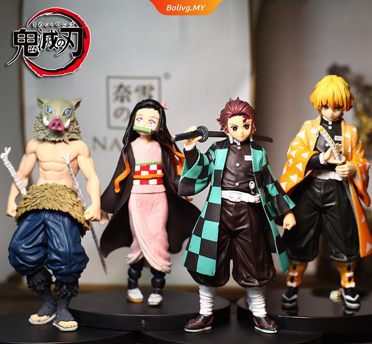 อะนิเมะ รูปอะนิเมะ Anime Demon Slayer Tanjirou Nezuko Agatsuma Zenitsu Inosuke Giyuu Shinobu  PVC Action Figure Figurine