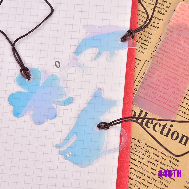 [COD]2Pcs Creative Laser Stickers Bookmarks Books Paper Clip Cute Kawaii Book Markers