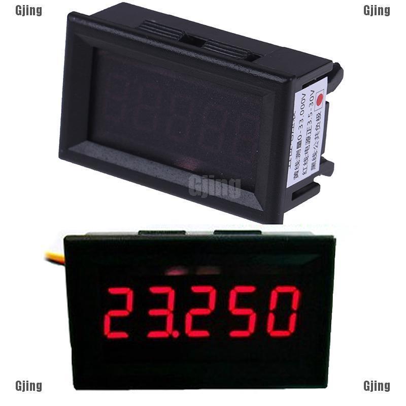 Red LED 5 Digit DC 0-4.3000-33.000V Digital Voltmeter Voltage Meter Car Panel