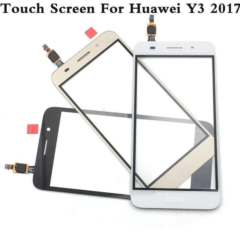 อะไหล่หน้าจอสัมผัสสําหรับ Huawei Y3 2017 Cro-u00 Cro-l02 Cro-l22