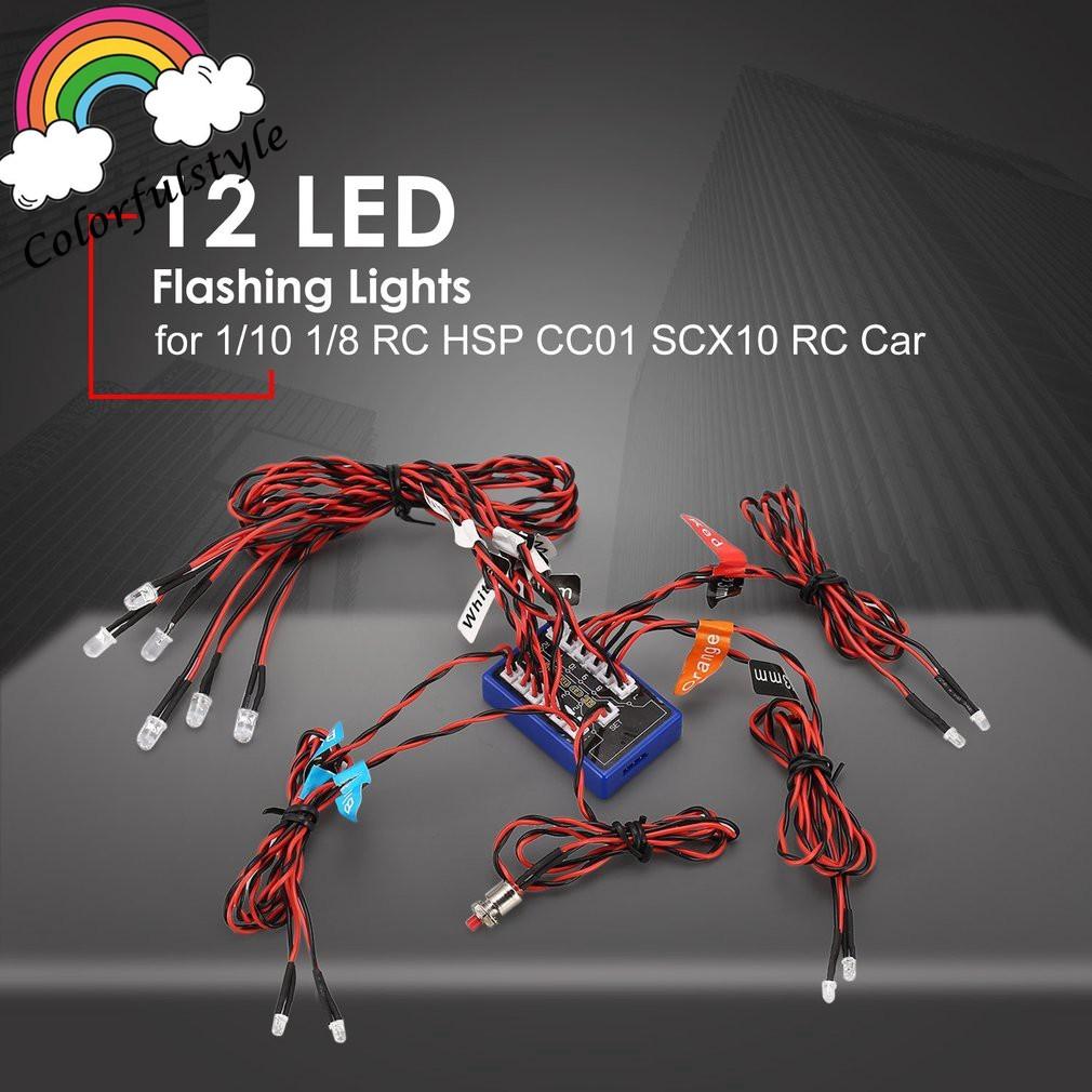 RC 12 LED Simulation Flashing Light Realistic Smart System Kit fo 1//10 Car Truck