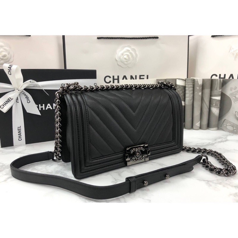 Chanel Boy Chevron 10 SHW