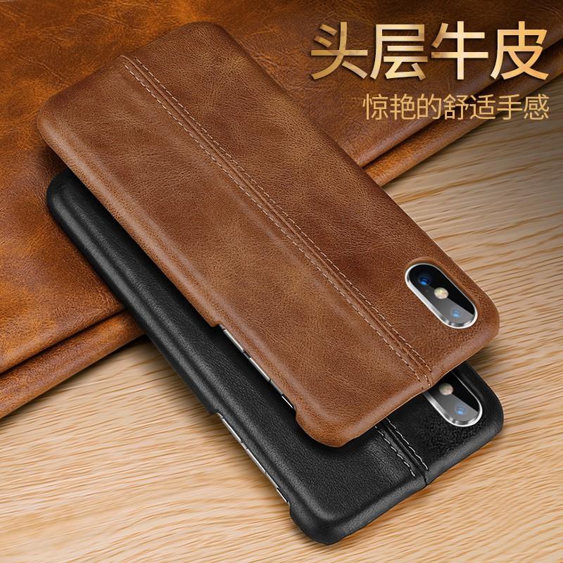 เคสโทรศัพท์หนังวัวแท้สำหรับ Samsung Galaxy S 8 S 9 Plus Note 8 9 Genuine Leather Flip Case