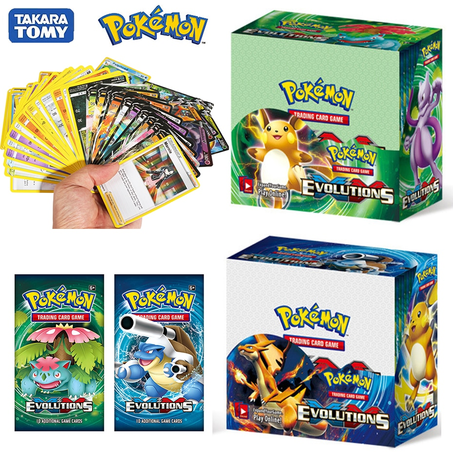 ใหม่324pcs Pokemon cards All series TCG: Sun & Moon Series Evolutions Booster Box Collectible Trading Card Pokemon Game