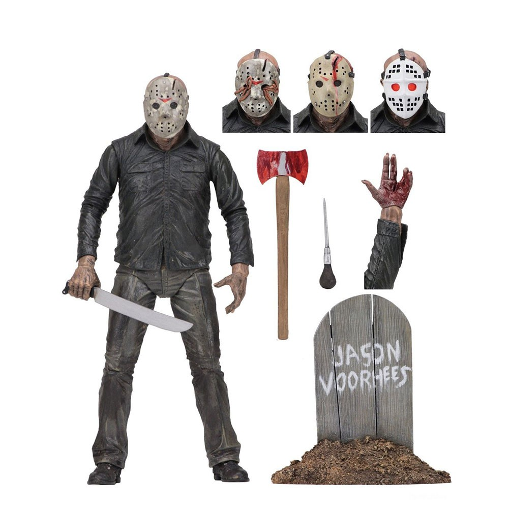 """#NEW Jason Voorhees 7/"""" Scale Action Figure FRIDAY THE 13TH: Part 4 NECA"""