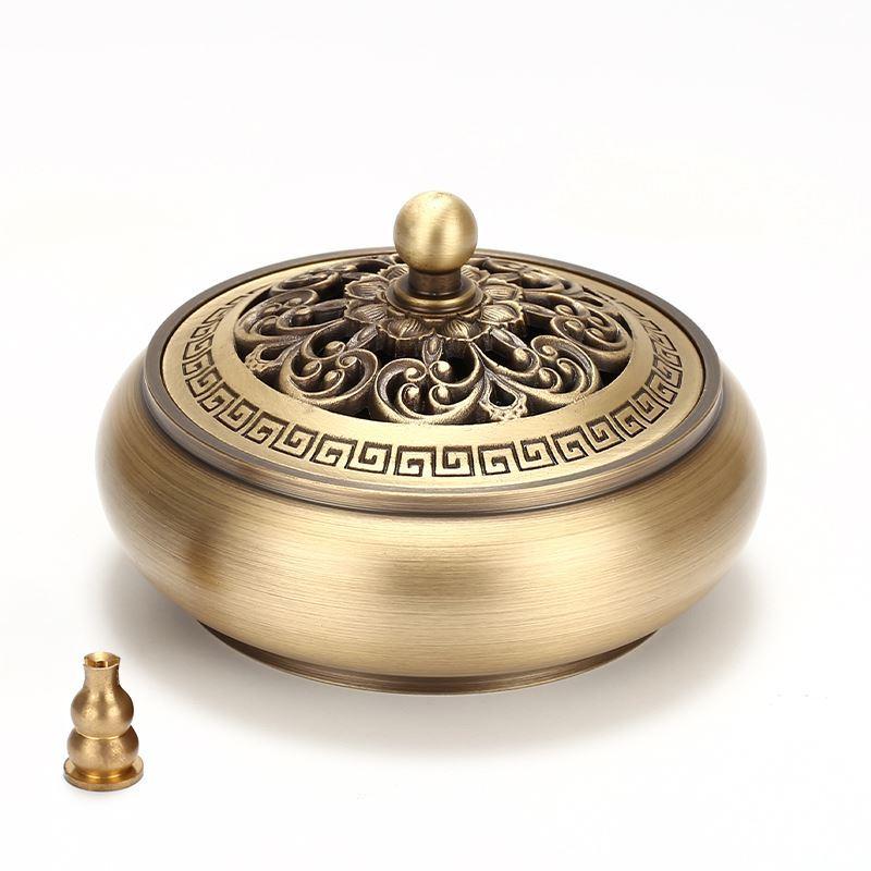 ✤Siyou Cloisonneเครื่องหอมธูปทองแดงในร่มสำหรับพระพุทธรูปบูชา祭祖วัดDingฉบับที่กลิ่นหอมของไม้จันทน์