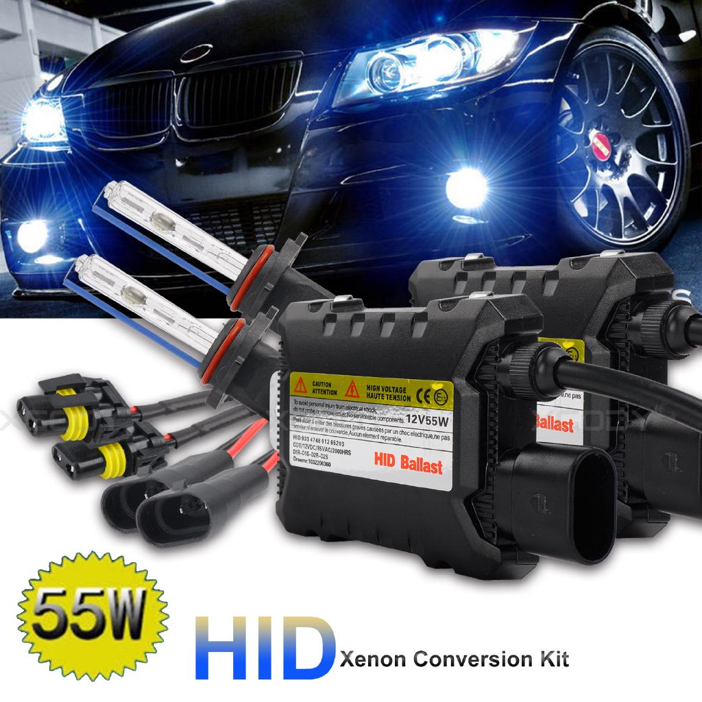 หลอดไฟ 55 W HID Xenon Headlight Conversion KIT BULBS 8000 K H 1 H 3 H 4 H 7 H 11