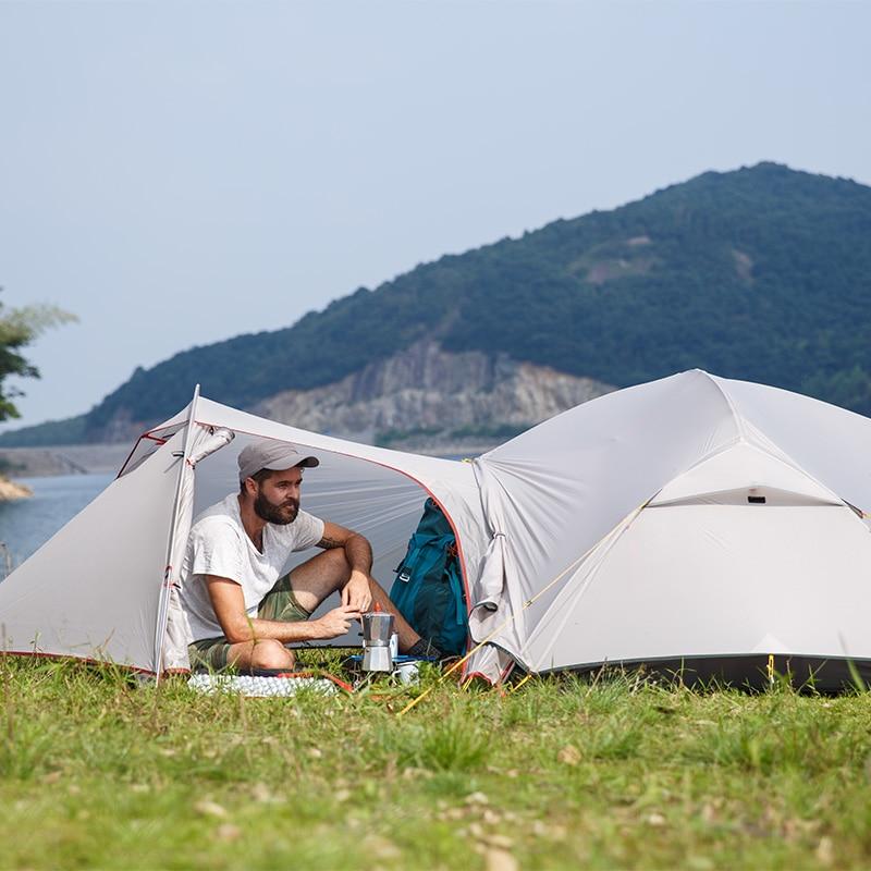 Please COD Naturehike Mongar 2 Camping Tent Ultralight Outdoor 3 Season Waterproof 20D Nylon Hiking Tent 2 Person Backpa