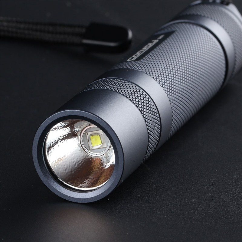 Teamwinm Convoy S21A 2300 Lumens Flashlight Copper DTP Board 18650 Battery 4 Modes Torch Light Camping Lamp OsMm