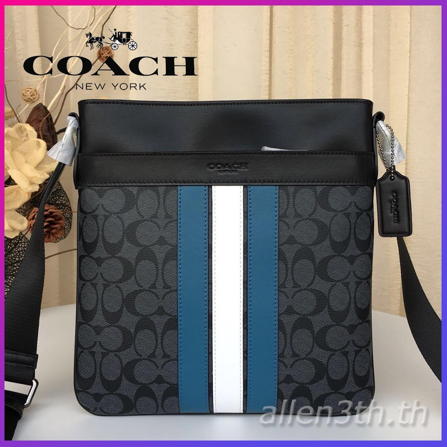 กระเป๋า Coach แท้ F26068 กระเป๋าสะพายข้างผู้ชาย / crossbody bag / กระเป๋าเอกสาร / กระเป๋าสะพายไหล่หนัง
