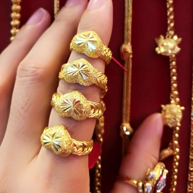 แหวนทองแท้ 96.5% น้ำหนักทอง 1 สลึง ราคา 7,800 บาท