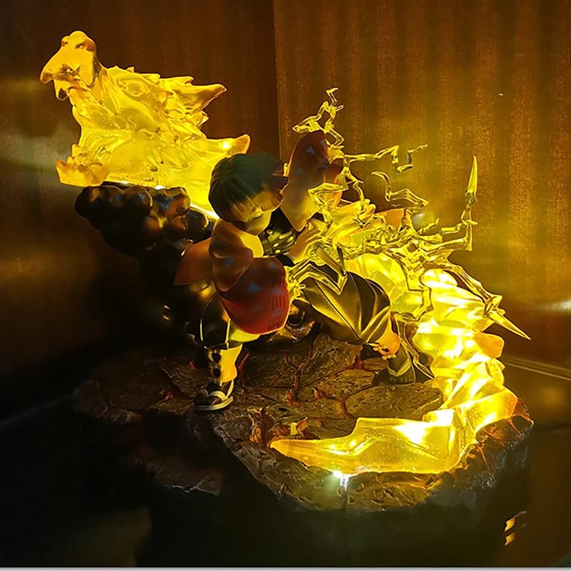 My Wife Zenyi, Demon Slayer Blade, Thunder Breath, Thunderbolt, Shining Resin latform Scene Model Figure