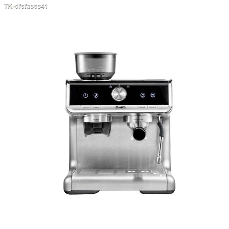 เครื่องชงกาแฟพกพาไฟฟ้า✹▣Barsetto/Yummosa เครื่องชงกาแฟเอสเปรสโซในครัวเรือน เครื่องทำฟองนมเชิงพาณิชย์ เครื่องบดกาแฟกึ่งอั