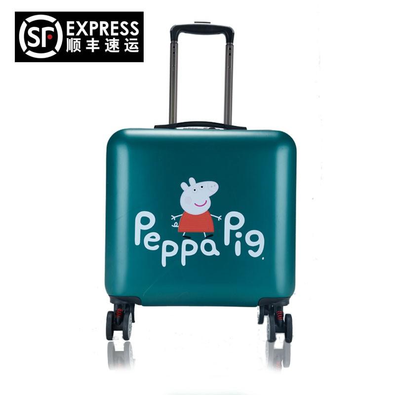 ❅☻กระเป๋าเดินทางรถเข็นการ์ตูนรถเข็นกรณีรถเข็นกระเป๋าเดินทางหญิง 16 นิ้วกระเป๋าเดินทางมินิกระเป๋าเดินทางขนาดเล็กชายเกาหลี