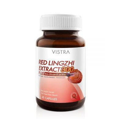 Vistra Red Lingzhi Extract 300mg Plus Beta&Glucan Lacithin 30 เม็ด 1 ขวด