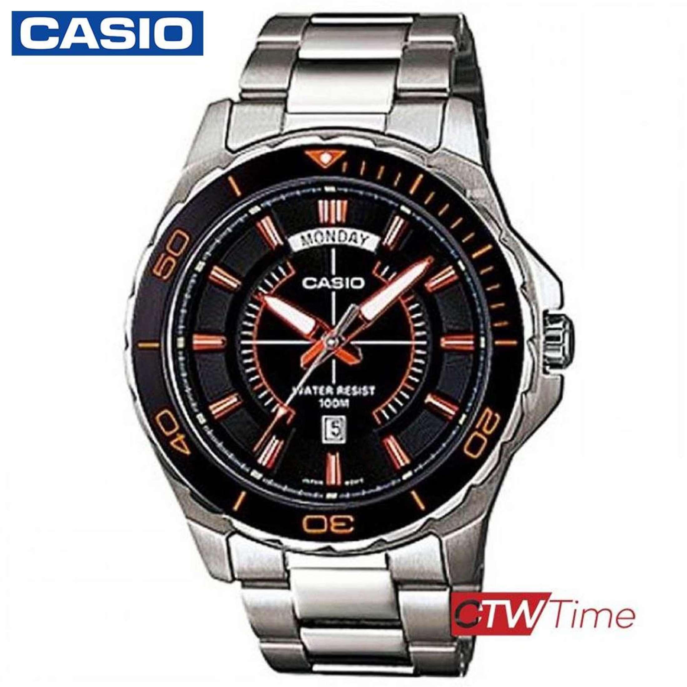 ส่งฟรี !! Casio Standard นาฬิกาข้อมือสุภาพบุรุษ สายสแตนเลส รุ่น MTD-1076D-1A4VDF - Silver 0Y8d