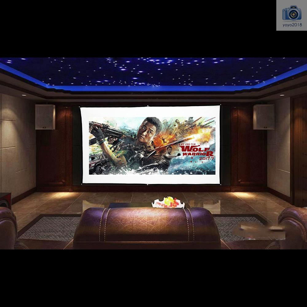 """70/""""X70/"""" 1:1 Manual Pull Down Projector Projection Screen HDTV Movies Home Cinema"""