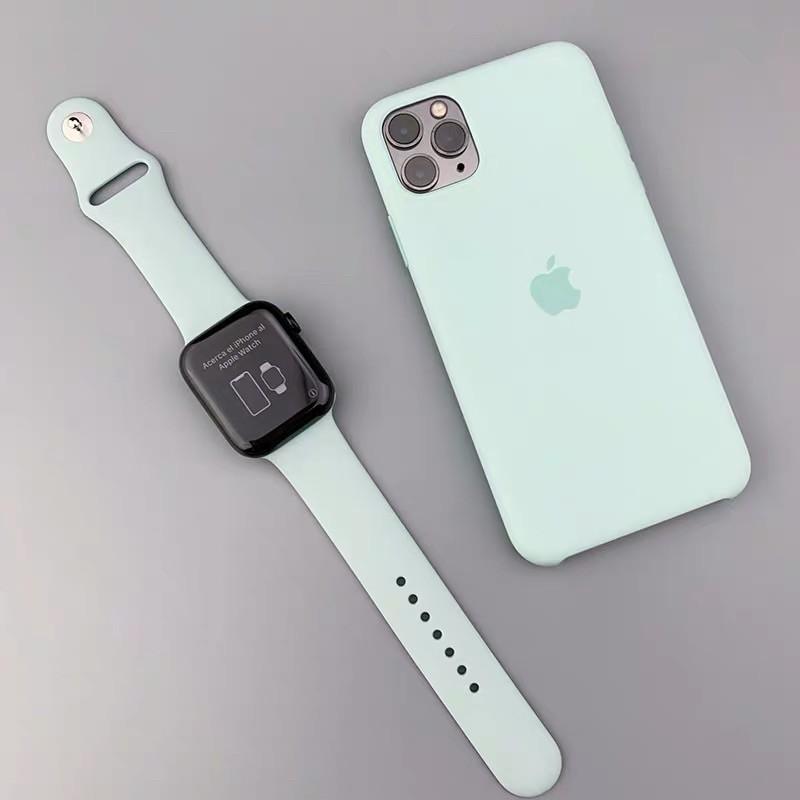 ◐พร้อมส่ง‼️ สาย สำหรับ Apple Watch สีมาใหม่ series 6 5 4 3 2 1 applewatch ขนาด  42mm 44mm 38mm 40mm