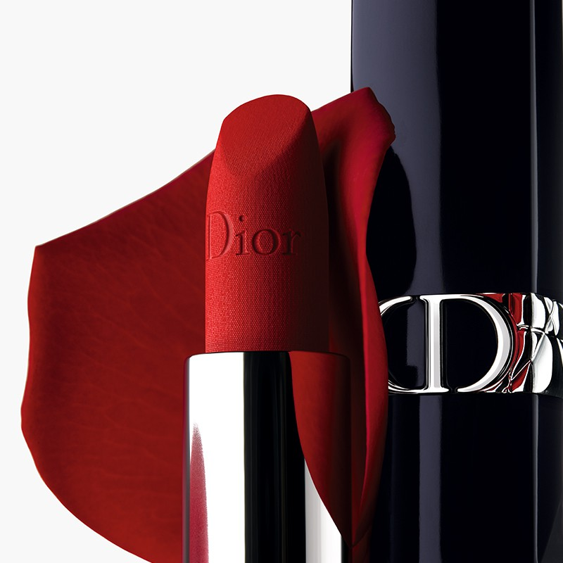 ☎❣►[Custom lettering]New Dior Dior Brilliant Blue Gold Lipstick ลิปสติก Legend Velvet 999 720
