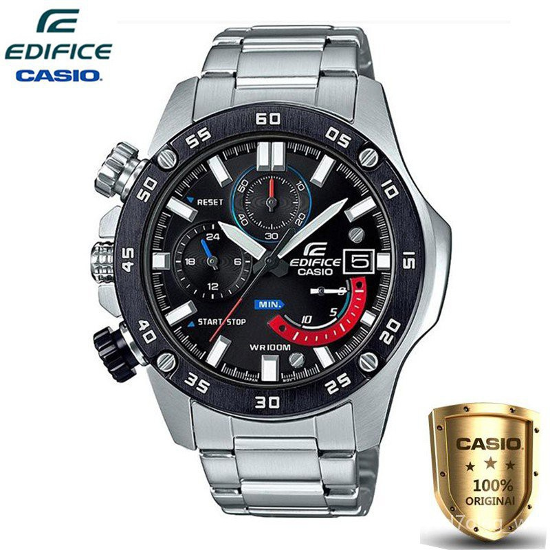 Casio Edifice นาฬิกาข้อมือผู้ชาย สายสแตนเลส รุ่น EFR-558DB-1AV รับประกัน1ปี (ของแท้100%)