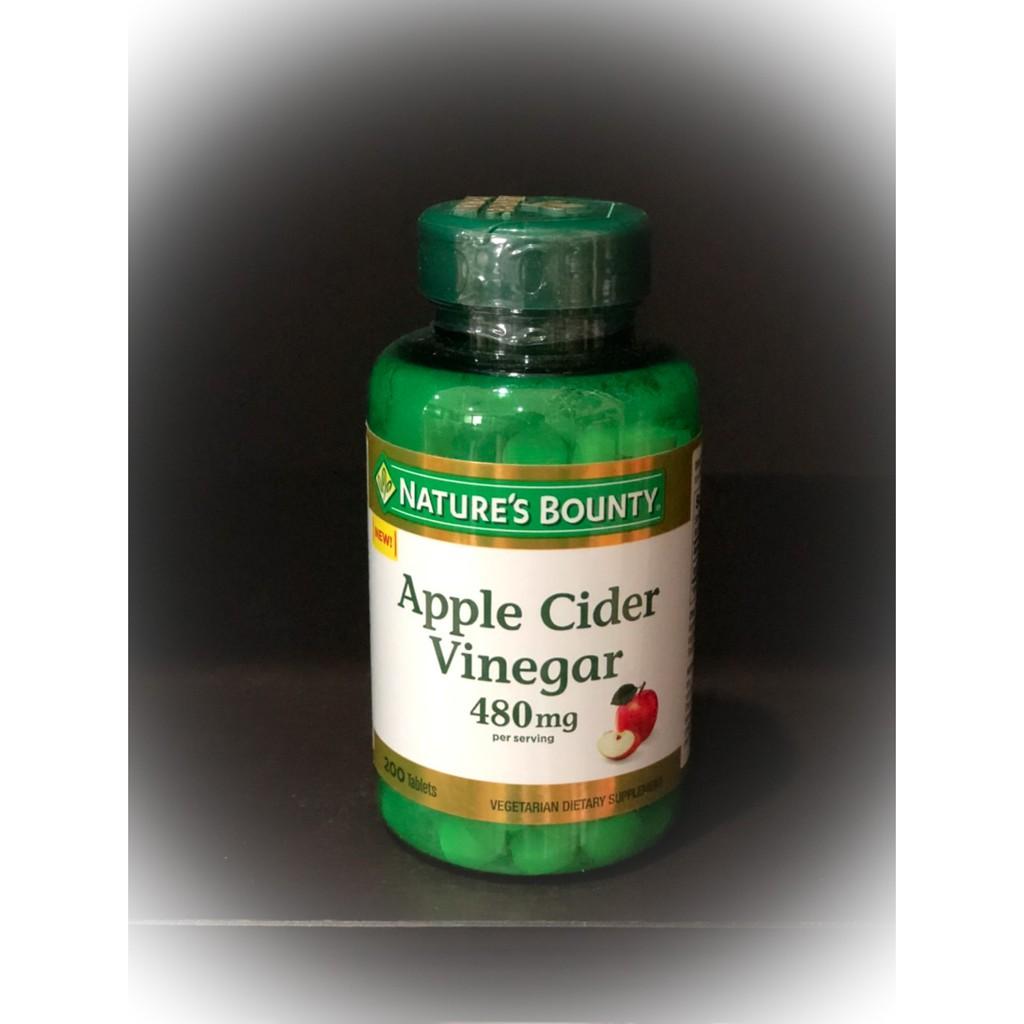 Nature's Bounty, Apple Cider Vinegar, 480 mg, 200 Tablets