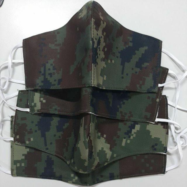 ผ้าปิดจมูกลายพราง 2 ชั้น (ทหารบก) แมสผ้าทหารบก หน้ากากผ้า