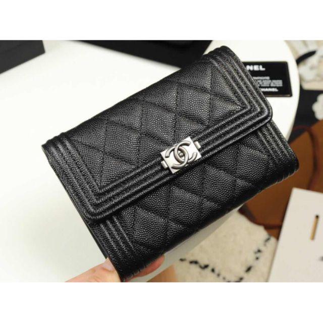 Chanel boy trifold Flap wallet