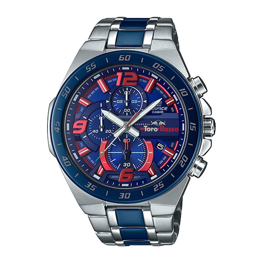 Casio Edifice นาฬิกาข้อมือผู้ชาย สายสแตนเลส รุ่น EFR-564TR,EFR-564TR-2A - สีเงิน