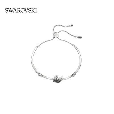 ﹢ぜสร้อยข้อมือเครื่องประดับ【สินค้าใหม่】 Swarovski สีดำและสีขาวไล่ระดับหงส์ Iconic Swan สร้อยข้อมือสร้อยข้อมือผู้หญิง