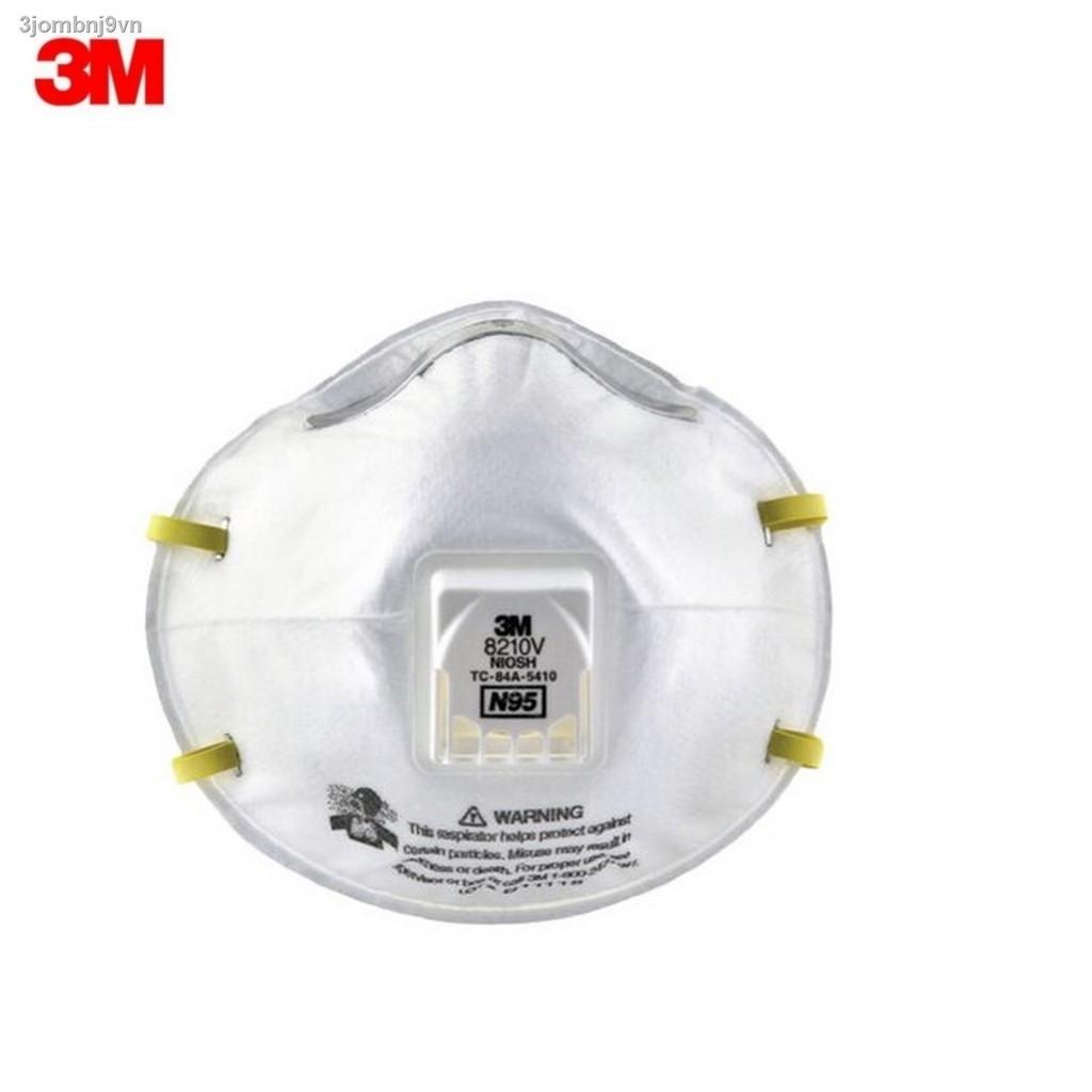 🔥hotsell🔥✵☼✾3M 8210V N95 ชนิดมีวาล์ว (1ชิ้น) หน้ากากป้องกันฝุ่น Valved PM2.5 8210 (เอ็น95)