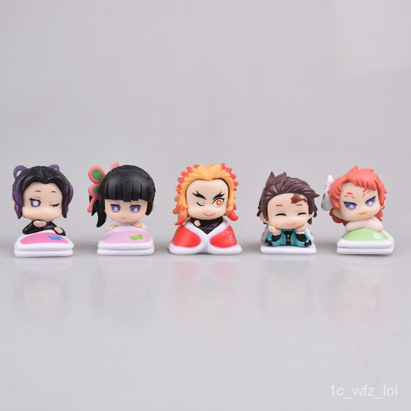 5cs /Set Kimetsu no Yaiba Figure Tsuyuri Kanawo Kochou Shinobu Rengoku Kyoujurou VC Demon Slayer Collection Toys#¥%¥# wa