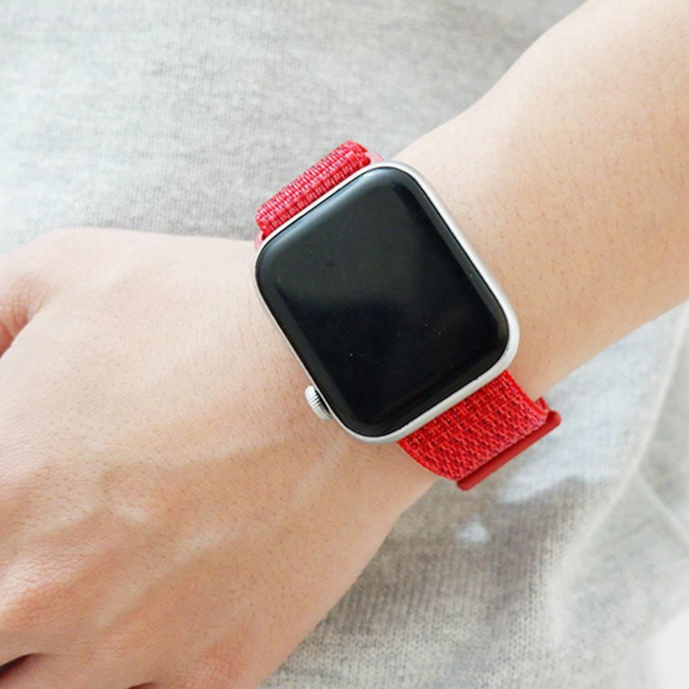 💥 สาย applewatch 🔥 เหมาะสำหรับสาย Applewatch iwatch 5/4/3/2/1 รุ่นห่วงไนลอนทอละเอียดสายนาฬิกา Apple