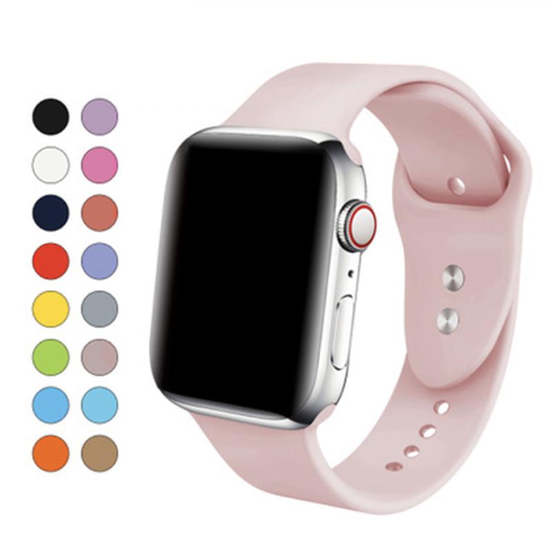 Appleสายรัดข้อมือ สาย Apple Watch Series 1/2/3/4 Iwatch Applewatch สายนาฬิกาสายยาง สายนาฬิกาซิลิโคน Apple Watch Wrist Band สายนาฬิกาข้อมือซิลิโคน