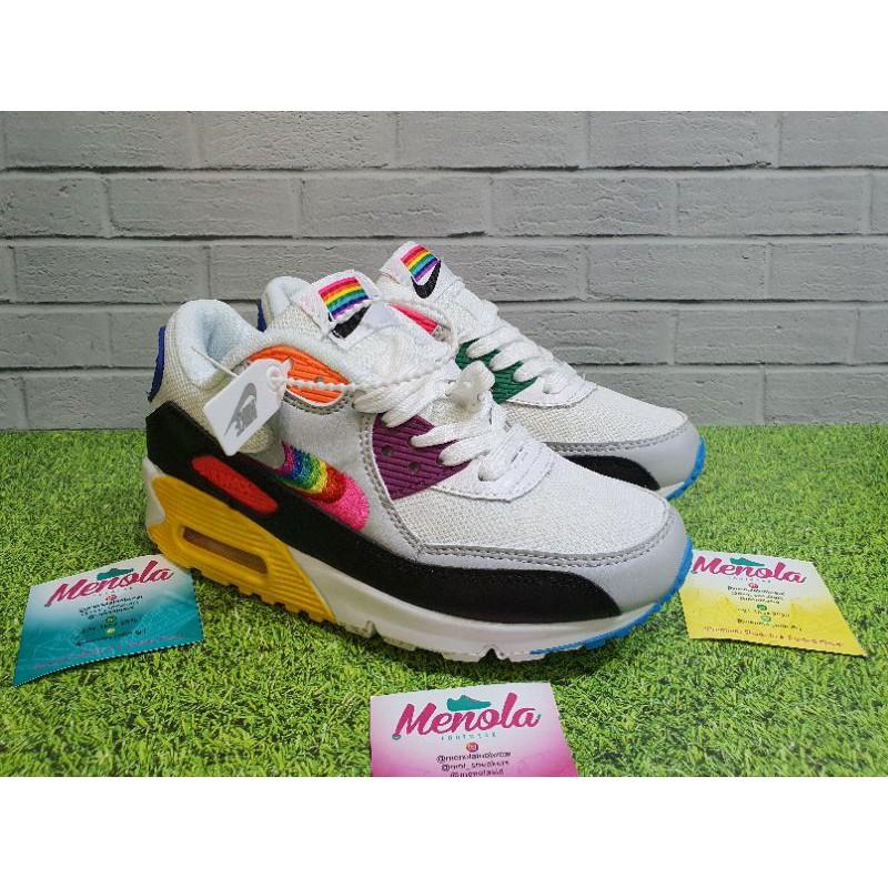 Nike Airmax 90 รองเท้าผ้าใบแฟชั่นสีขาว