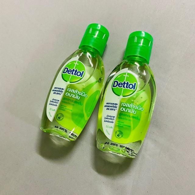 สบู่ล้างมือถุงเติมเจลล้างมือเดทตอล เจลล้างมือ℗✴❂Dettol เดทตอล เจลล้างมืออนามัย 50 มล.
