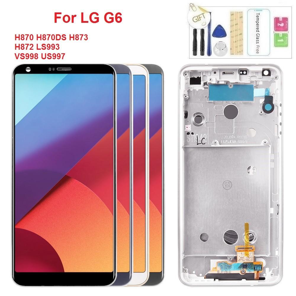หน้าจอแสดงผล LCD สำหรับ LG G6 H820 H872 หน้าจอสัมผัส